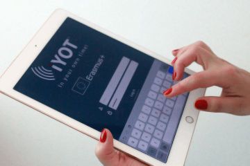 iYOT App using tablet