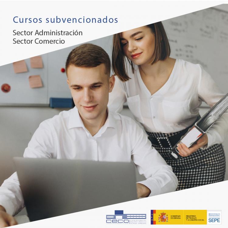 Formación subvencionada para trabajadores del sector administración y comercio